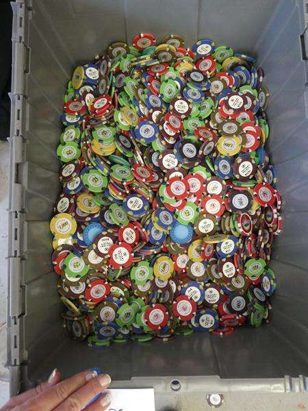 """Lot # 203- Movie buffs out there- Poker chips from the movie """"Oceans 11"""" (main image)"""