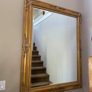 Lot # 2- Grand Gold Mirror