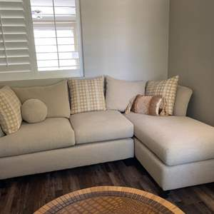 Lot # 12- Sofa with a chaise lounge- Great Condition