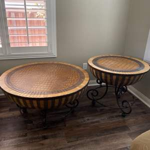 Lot # 13-African drum table set