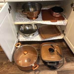 Lot # 49-Copper cookware! Plus more!