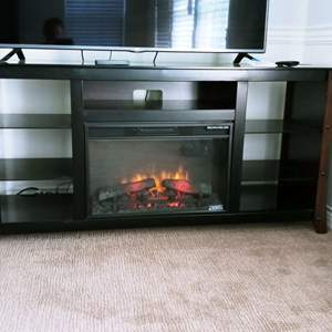 Lot # 64- Electric Fireplace Entertainment Hutch