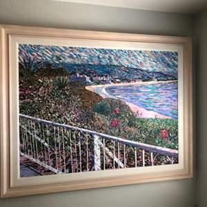 Lot # 74- Impressionist painting by  de Pierre