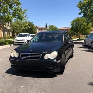Lot # 75- 2007 Black Mercedes-Benz C- Class- C230 196k miles- V6- 2.5L