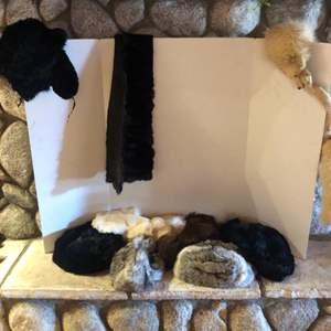 Lot # 77-Vintage fur! 9 fur hats, 2 fur stoles