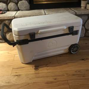 Lot #82- Giant Igloo ice chest with wheels