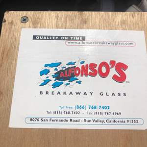 Lot#85- Movie prop- Fake glass- break away glass- so cool- See video