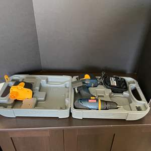 Lot # 7-RYOBI Drill with Charger and 2 Batteries