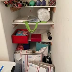Lot # 9-Closet Contents! Craft closet