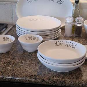 Lot # 28- Rae Dunn Inspired Dish ware and More!