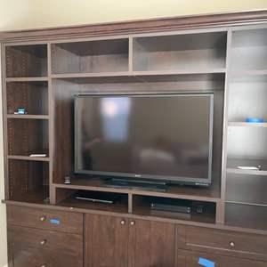 "Lot # 42- SHARP 52"" TV with TOSHIBA DVD Player"