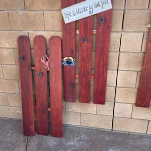 Lot # 47- Outdoor Wall Art Decor!
