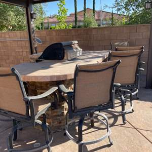 Lot # 48- 6pc Outdoor Barstools