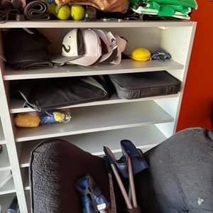 Lot # 54-Misc Treasures- helmet, soft chair & more