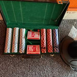 Lot # 60-Poker Time! with Tower Fan!