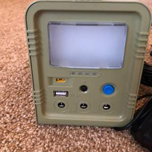 Lot # 124-Portable Generator- Instruction manual included- Looks new