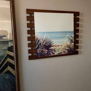 Lot # 131- Beautiful Beach Pictures, Rustic Shelf and Key Holder