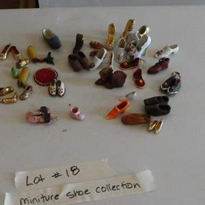 Auction Thumbnail for: Lot # 18-Miniature shoe collection. Endless possibilities!