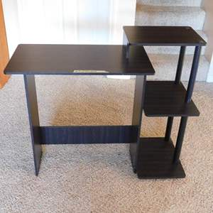 """Auction Thumbnail for: Lot # 51-Student desk, dark brown, 39""""wide X 34"""" tall."""