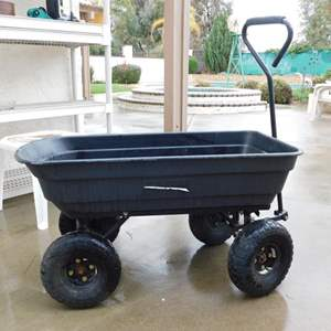 Auction Thumbnail for: Lot # 201- Garden Dump cart- 300 capacity