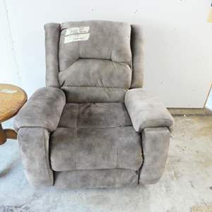 Auction Thumbnail for: Lot # 7- New gray recliner- excellent condition! Extremely comfortable!