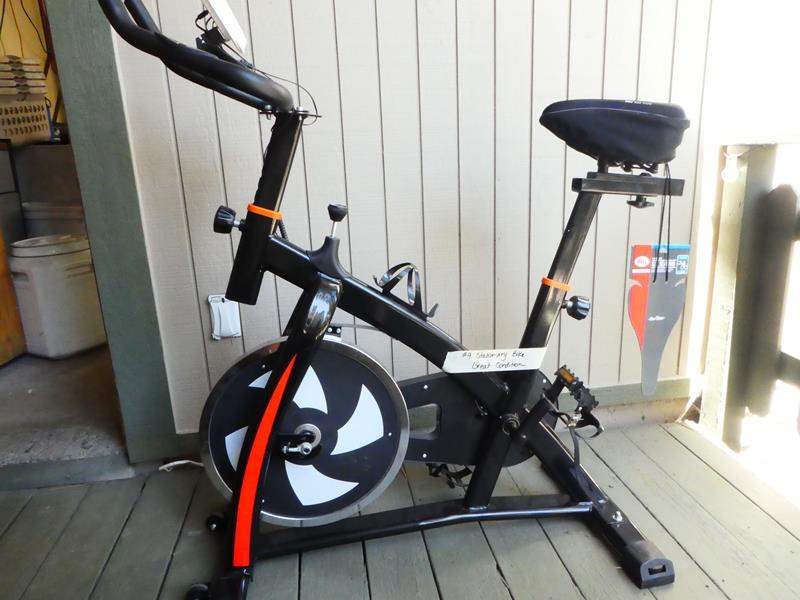 Lot # 9- Brand new- never used stationary exercise bike! Perfect while gyms are closed! (main image)