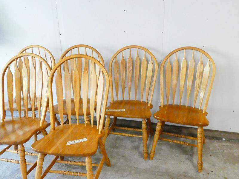 Lot # 10- 6 Solid wood chairs- amazing condition! (main image)