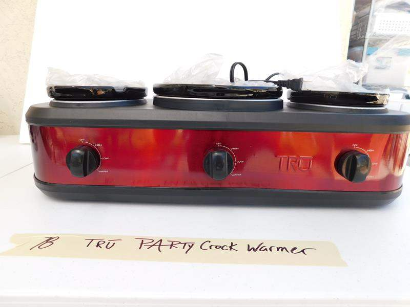 Lot # 78 Tru' Party crock 3 pot slow cooker new condition (main image)