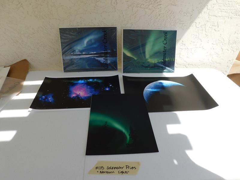 "Lot # 115 Coldwater prints ""Northern lights"" (main image)"