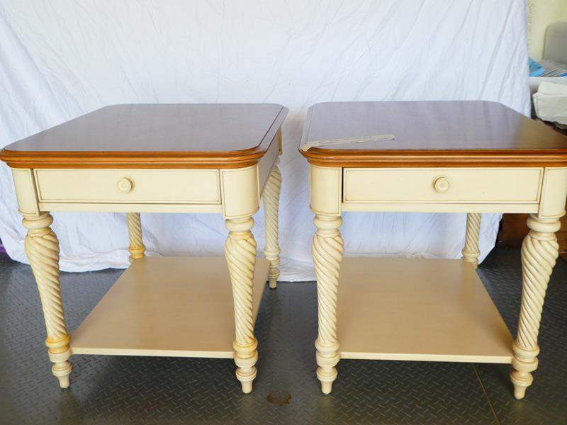 Lot # 9 Bassett matching end tables! Great condition (main image)