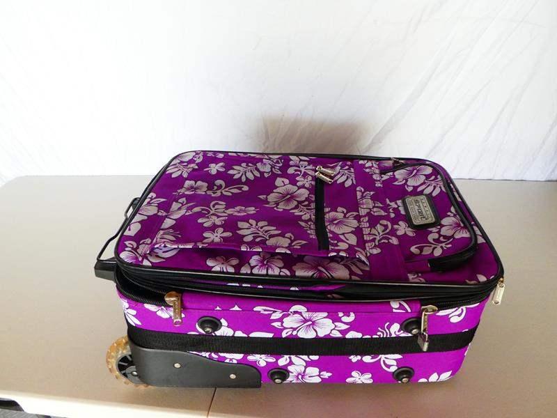 Lot # 20 Purple Hawaiian travel suitcase (main image)