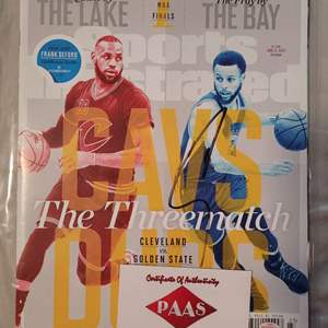 Steph Curry Signed Sports Illustrated