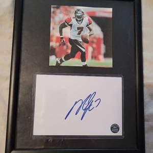 Michael Vick Signed Card Framed