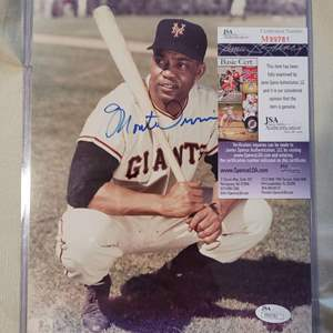 Monte Irvin Signed Photo