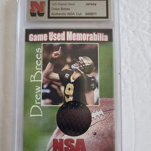 Game Used Drew Brees Jersey Card