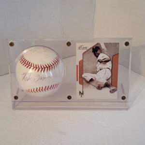 Auction Thumbnail for: Monte Irvin Signed Baseball in Display