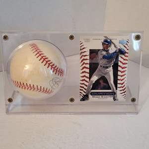 Auction Thumbnail for: Shawn Green Signed Baseball in Display