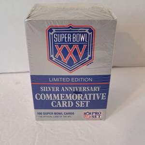 Super Bowl 25 Silver Ann. Card Set