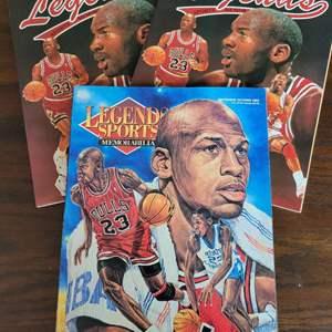 Michael Jordan Legends Sports Magazine w/ Uncut Sheet