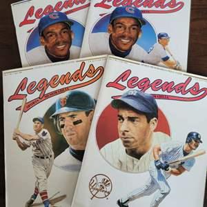 Auction Thumbnail for: 1990 Legends Sports Magazine w/ Uncut Sheet