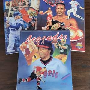 Official Program Legends Sports Magazine w/ Uncut Sheet