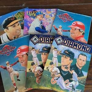 1992/93 Diamond and Legends Sports Magazine w/ Uncut Sheet