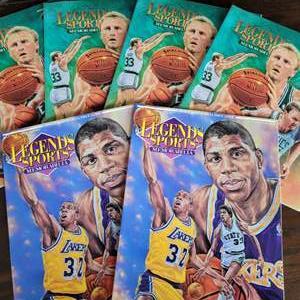 1992/93 Legends Sports Magazine w/ Uncut Sheet
