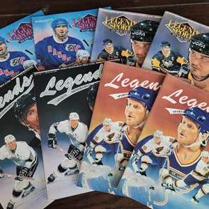 1991/92 Legends Sports Magazine w/ Uncut Sheet