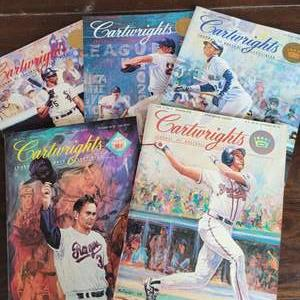 1992/93 Cartwrights Journal First 5 Magazines w/ Uncut Sheets