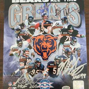 Chicago Bears Greats Signed Photo