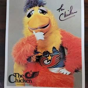 8x10 Signed Photo San Diego Chicken