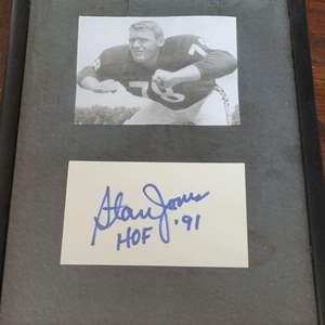 Stan Jones Signed Card Framed