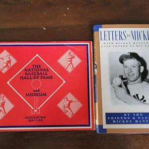Mickey Mantle & Hall of Fame Book