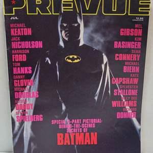 1989 Prevue Batman Magazine